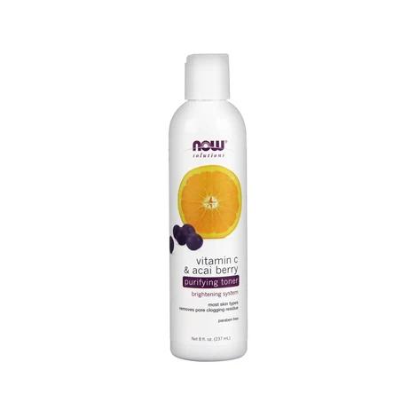 NOW Vitamin C & Acai Berry Purifying Toner 237mL
