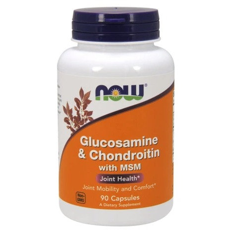 NOW Glucosamine & Chondroitin with MSM 90's Caps