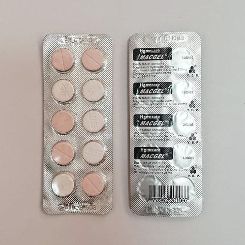 Macgel Antacid Tablet 100's