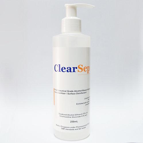 ClearSep Antiseptic Liquid (Hand Sanitizer/ Disinfectant) 250mL