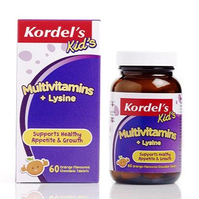 Kordel's Kid's Multivitamins+Lysine Orange Chewable tablets 60's