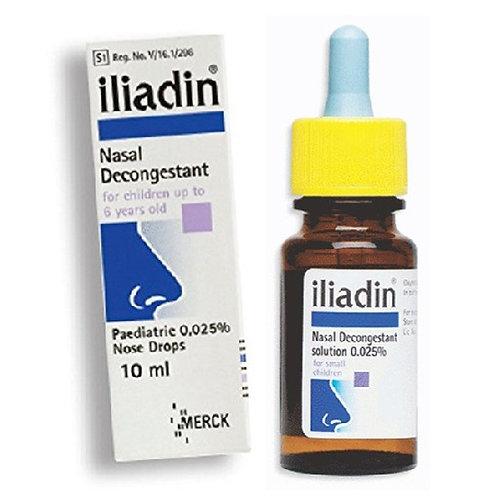 Oxymetazoline 0.025% Nasal Drop 10mL (Iliadin)