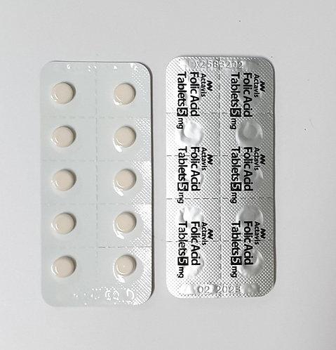 Folic Acid 5mg Tabs (120's)