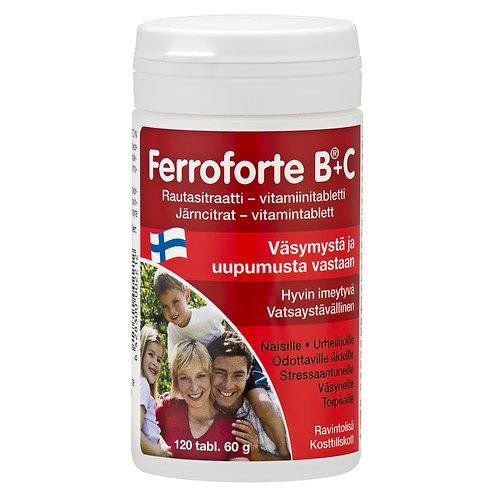 Hankintatukku Ferroforte B+C (Iron Citrate) tabs 120's