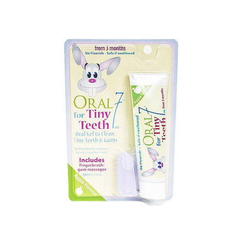 Oral 7 Tiny Teeth Oral Gel 55g with Fingerbrush