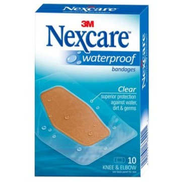 Nexcare Waterproof Knee & Elbow Bandages 10's