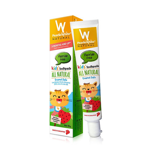 Pearlie White All Natural Enamel Safe Kids Fluoride-free Toothpaste 45g