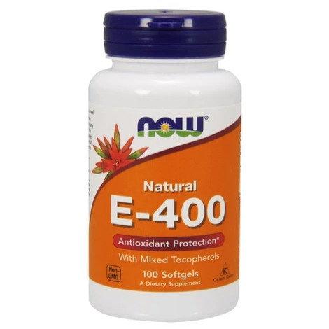 NOW E-400 Mixed Tocopherol 100's Softgels