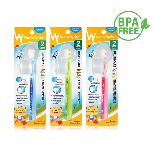 Pearlie White BrushCare Enamel Protect Kids Extra Soft Toothbrush Triple pack