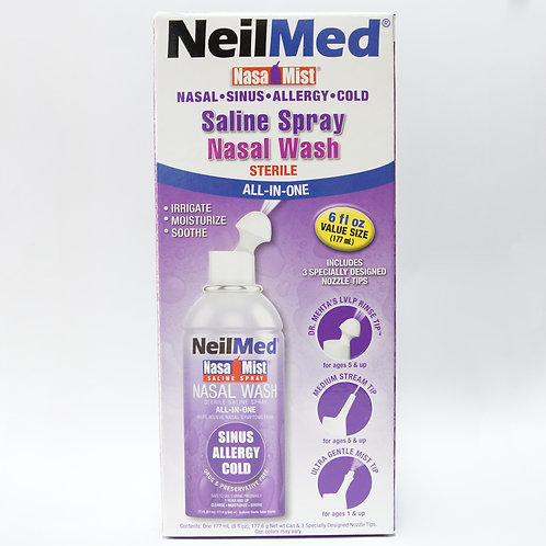 (Bundle of 2 Bottles) Neilmed NasaMist All-in-One 177mL