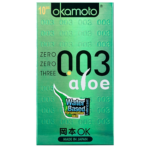 Okamoto003 Aloe Condoms 10's