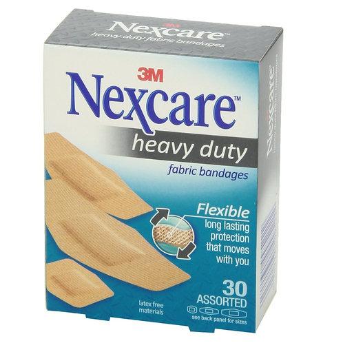 Nexcare Heavy Duty Flex Fabric Bandages Assor 30's
