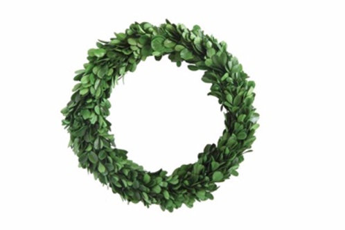 "9-3/4"" Round Preserved Boxwood Wreath"