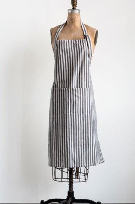 """38""""L x 28""""W Cotton Striped Apron, Grey"""