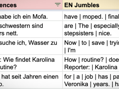 Jumbled: German exam sentences (AQA 2018 F)