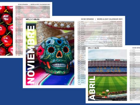 Printable: 2021 Word-A-Day Calendar (Spanish)