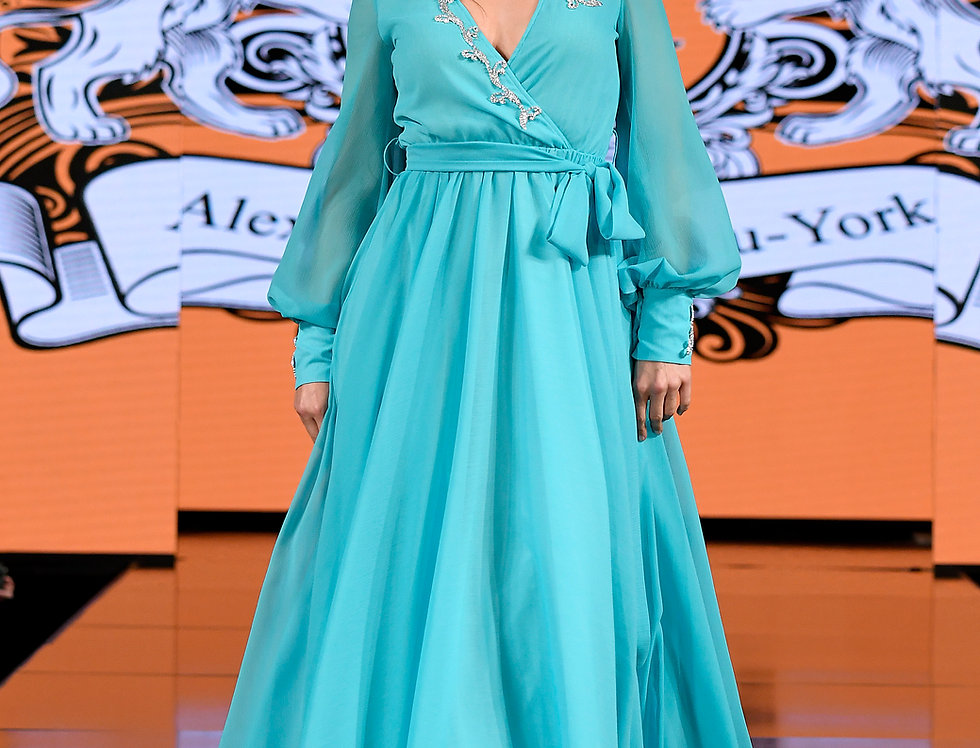 Aqua Runway Dress
