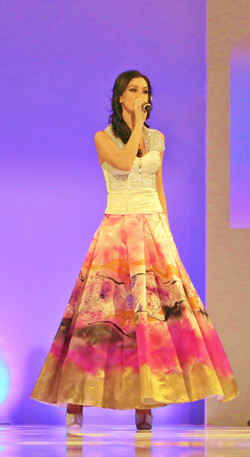Enchanting Orchid Gown