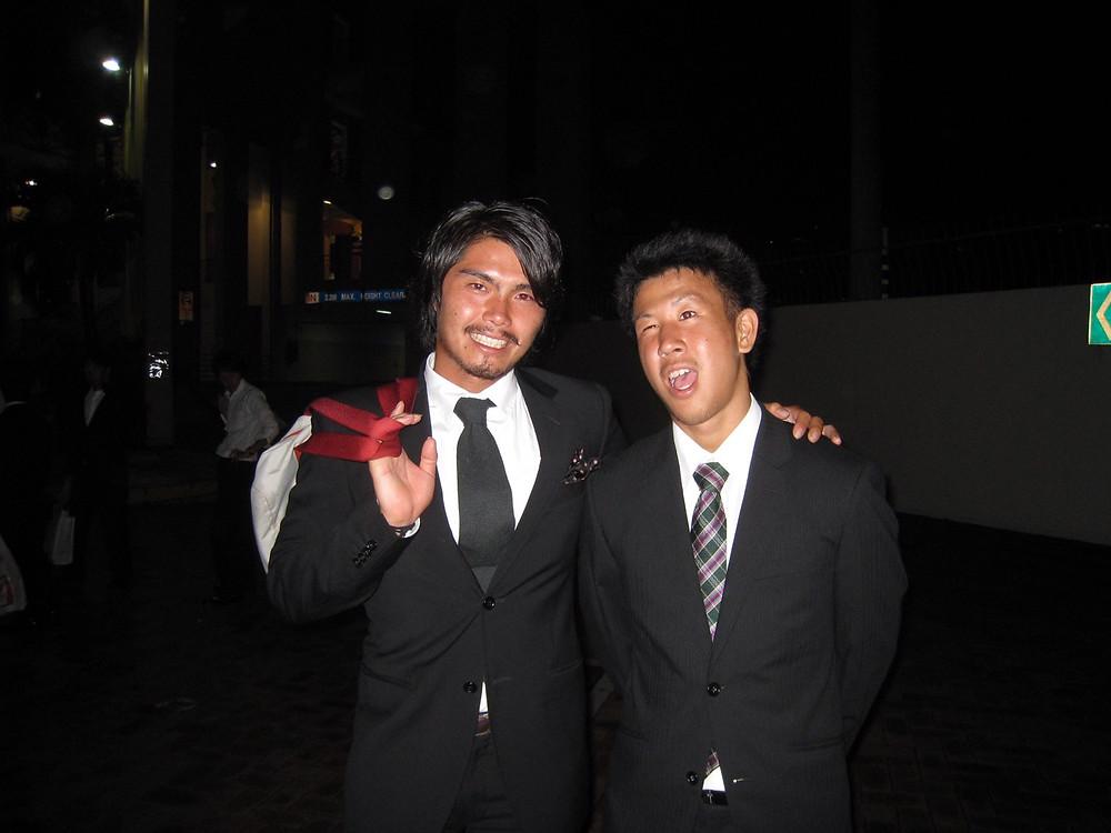 2009年,兩人在新潟天鵝新加坡/下野淳提供