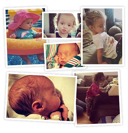 Photo collage of Olivia through the years