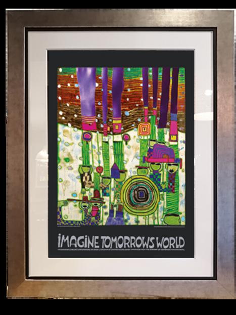 Imagina el mundo del Mañana; 90x115 cms
