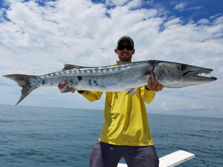 Captain Casey with a Barracuda