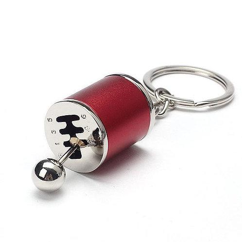 6 Speed Gear Keychain (Red)