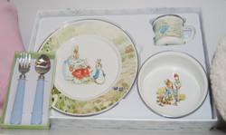 Peter Cotton Tail Plate Set