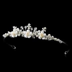 Ivory Floral Tiara