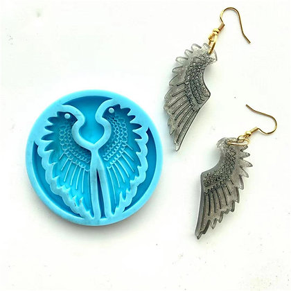 Angel wings earring keyring silicone mould resin mold Australia