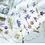 Daisy purple yellow flower clear stickers slide transfer embed in resin