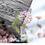 Thumbnail: 40 pcs Pink & White Flower Stickers Slides