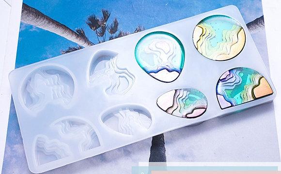 Silicone Island Mould epoxy resin uv beach jewellery pendant mold Australian stock