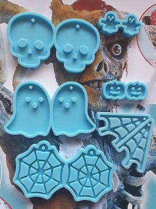Halloween Earring Keychain silicone mould for epoxy resin art Australia
