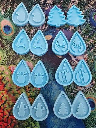 Christmas Santa Hat elf candy cane Silicone mould resin earrings keyring pendant Australia