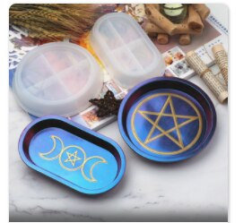 Star moon Silicone tray mould resin incense holder mould