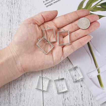Open Bezel Pendants for resin jewellery necklace flower earring