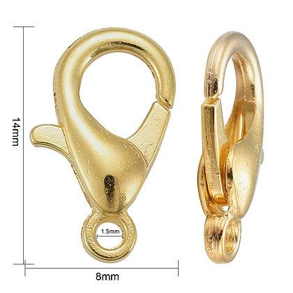 Gold parrot clasps bracelet hooks jewellery findings