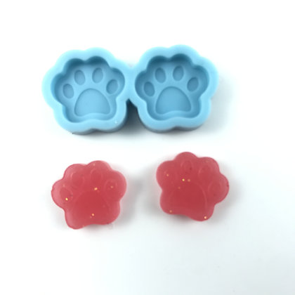 Dog Paw Stud silicone earring mold resin disney jewellery Australia mould