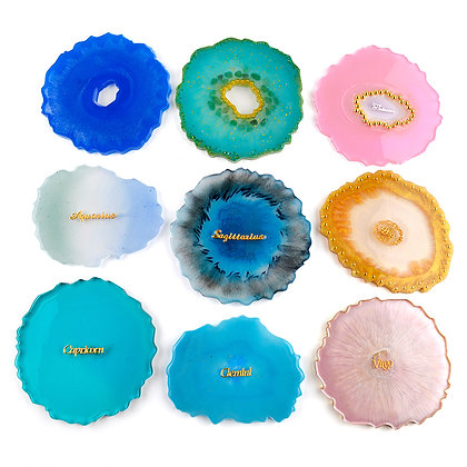 Discounted Silicone geode coaster mould irregular shape resin mold DIY coasters