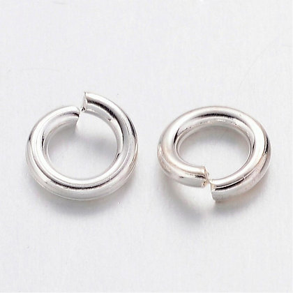 SILVER Plated 4mm Jump Rings Cheap Jewellery Making Supplies Necklace Earrings