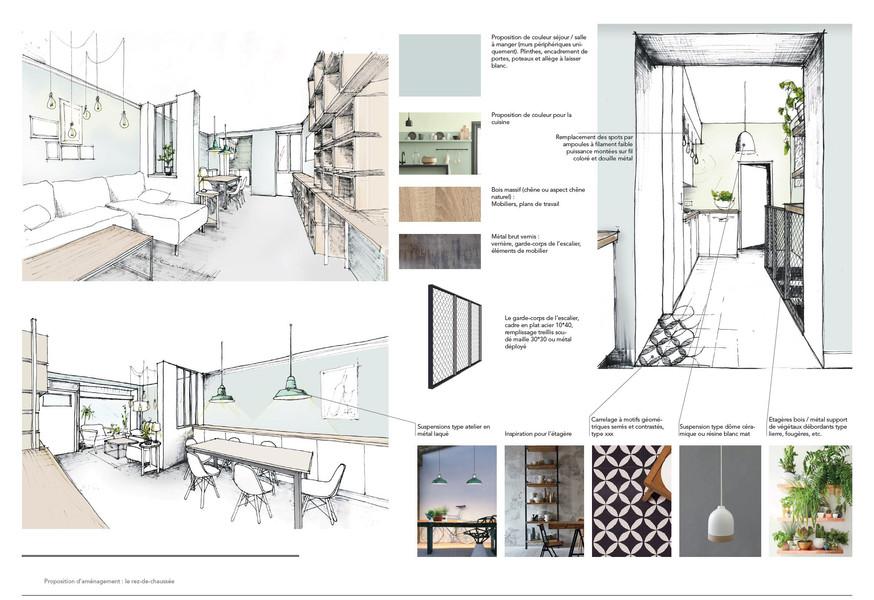 Transformation d'un commerce en logement en RDC + Souplex à Paris (75)