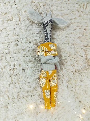 Doudou Bébé girafe jaune