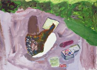 Artist Drawing Landscape