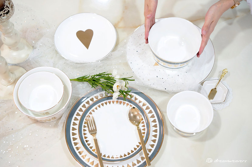 Hearts of Gold Dinnerware Collection 2