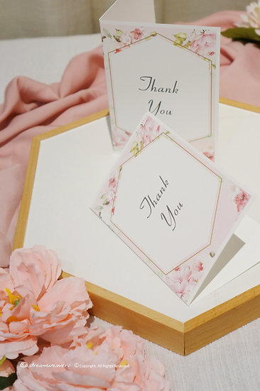 Rose Quartz Thank You Card