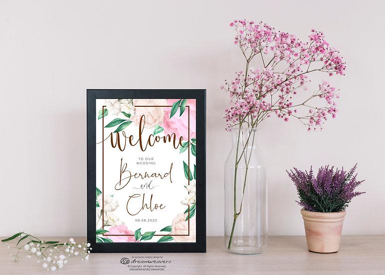 La Belle Bloom Welcome Signage