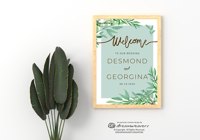 Spring Green Welcome Signage