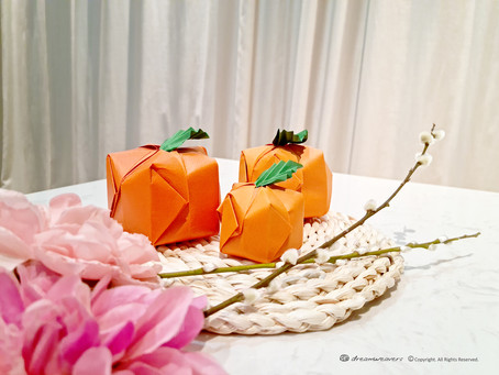 3D Mandarin Orange Origami Decoration