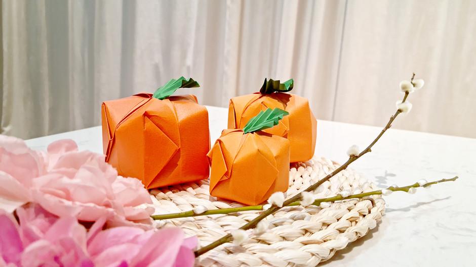 3D Mandarin Orange Origami Decoration